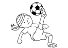 Bilde å fargelegge spille fotball