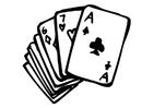 Bilde å fargelegge spillekort