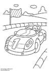 Bilde å fargelegge sportsbil
