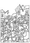 Bilde å fargelegge St. Nikolaus og Svarteper