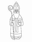 Bilde å fargelegge St. Nikolaus