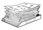 Bilde å fargelegge stabel av dokumenter