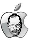 Bilde å fargelegge Steve Jobs - Apple
