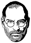 Bilde å fargelegge Steve Jobs