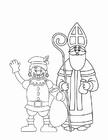 Bilde å fargelegge Svarteper og St. Nikolaus (2)