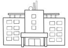 Bilde å fargelegge sykehus