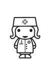 Bilde å fargelegge sykepleier