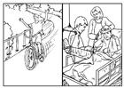 Bilde å fargelegge sykling - sikkerhet