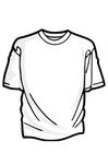 Bilde å fargelegge t-skjorte