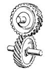 Bilde å fargelegge tannhjul
