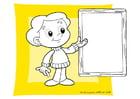 Bilde å fargelegge tavle