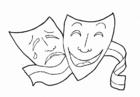 Bilde å fargelegge teater - artister
