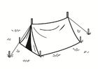 Bilde å fargelegge telt