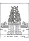 Bilde å fargelegge tempel