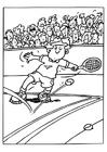 Bilde å fargelegge tennis