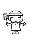 Bilde å fargelegge tennisspiller