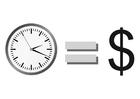 Bilde å fargelegge tid er penger