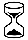 Bilde å fargelegge timeglass