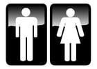 Bilde å fargelegge toalett