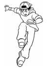 Bilde å fargelegge tøff gutt