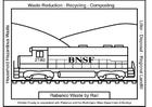 Bilde å fargelegge tog med container