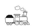 Bilde å fargelegge tog