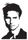 Bilde å fargelegge Tom Cruise