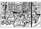 Bilde å fargelegge trafikk