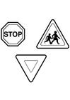 Bilde å fargelegge trafikkskilt