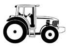 Bilde å fargelegge traktor