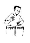 Bilde å fargelegge trommer