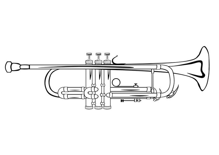 bilde å fargelegge trompet  gratis bildene for fargelegging