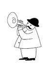 Bilde å fargelegge trompetist