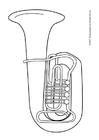Bilde å fargelegge tuba