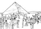 Bilde å fargelegge turisme i Egypt