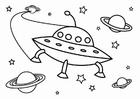 Bilde å fargelegge UFO