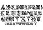 Bilde å fargelegge ulike bokstaver og sifre - typesnitt - fra det 11. Ã¥rhundre