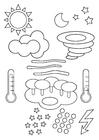 Bilde å fargelegge værsymboler