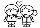 Bilde å fargelegge Valentinsdag Ã¥ være forelsket