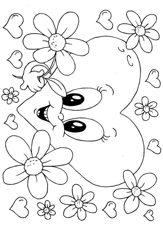 Bilde 229 Fargelegge Valentinsdag Blomster Bil 24618
