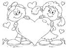 Bilde å fargelegge Valentinsdag hjerte