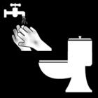 Bilde å fargelegge vaske hendene etter et toalettbesøk