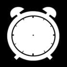 Bilde å fargelegge vekkerklokken er tom