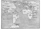 Bilde å fargelegge verdenskart 1548