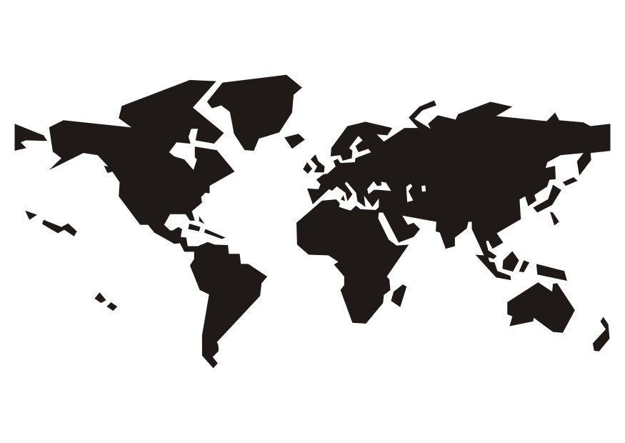 Mapa Del Mundo Para Dibujar: Bilde å Fargelegge Verdenskart
