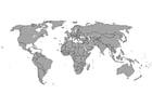 Bilde å fargelegge verdenskart med grenser