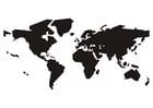 Bilde å fargelegge verdenskart