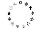 Bilde å fargelegge verdensreligioner