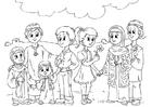 Bilde å fargelegge Vestlige barn i muslimsk kultur