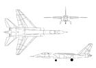 Bilde å fargelegge Vigilante A-5A jagerfly